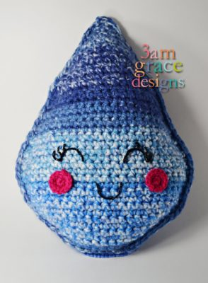 Raindrop Kawaii Cuddler™ by Donna Beavers - 3amgracedesigns