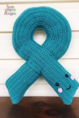 Awareness Ribbon Kawaii Cuddler™ by Donna Beavers - 3amgracedesigns