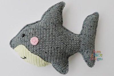 Shark Kawaii Cuddler™ by Donna Beavers - 3amgracedesigns