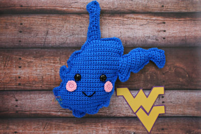 State of West Virginia Kawaii Cuddler™ by Donna Beavers - 3amgracedesigns