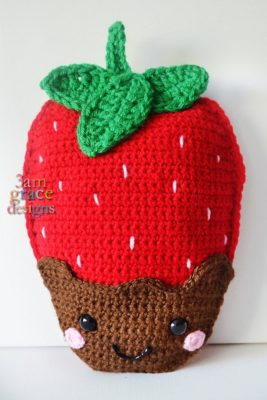 Strawberry Kawaii Cuddler™ by Donna Beavers - 3amgracedesigns