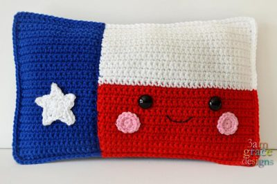 Texas State Flag Kawaii Cuddler™ by Donna Beavers - 3amgracedesigns