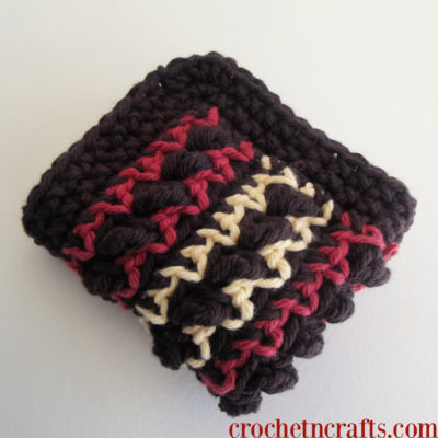 Textured Stripes Dishcloth by CrochetNCrafts