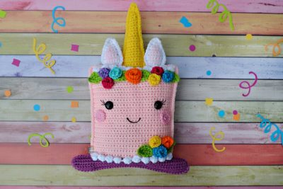Unicorn Cake Kawaii Cuddler™ by Donna Beavers - 3amgracedesigns