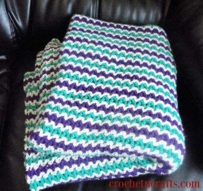 V-Stitch Blanket Crochet Pattern by CrochetNCrafts