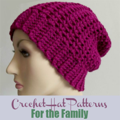Free Crochet Hat Patterns for the Family