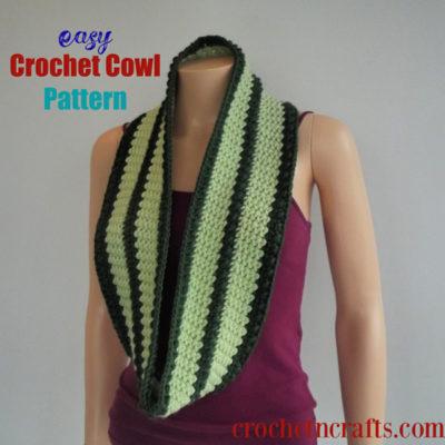 Easy Crochet Cowl Pattern by CrochetNCrafts