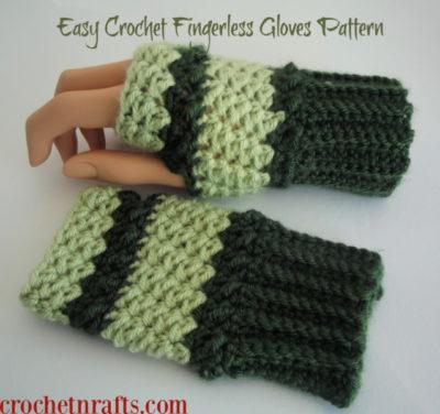 Easy Crochet Fingerless Gloves Pattern by CrochetNCrafts