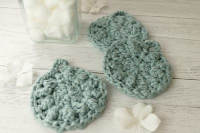 Chunky Facial Scrubbies by Pamela Grice from Made with a Twist