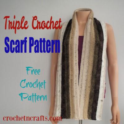Triple Crochet Scarf Pattern by CrochetNCrafts