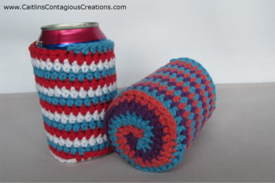 Spiral Can Cozy Crochet Pattern by Caitlin's Contagious Creations