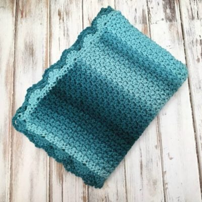Elegant Ombre Baby Blanket by Amanda Saladin from Love Life Yarn
