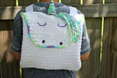 Unicorn Backpack by Amanda Saladin from Love Life Yarn
