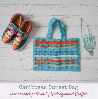Caribbean Sunset Bag by Marie/Underground Crafter
