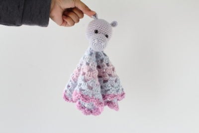 Crochet Hippo Lovey by Underground Crafter