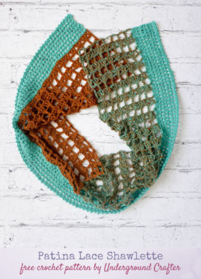 Patina Lace Shawlette by Marie Segares/Underground Crafter