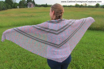 Summer Wildflowers Triangle Shawl by Caitlin's Contagious Creations
