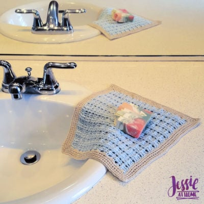 Broken Rib Crochet Washcloth by Jessie Rayot from Jessie At Home