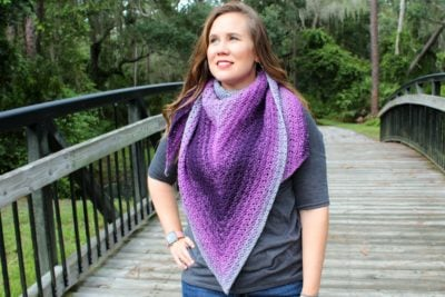 Summer Sunset Shawl Michelle Ferguson for Underground Crafter