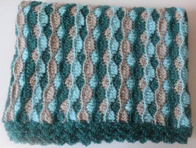 At the Shore Baby Blanket by Marie/Underground Crafter