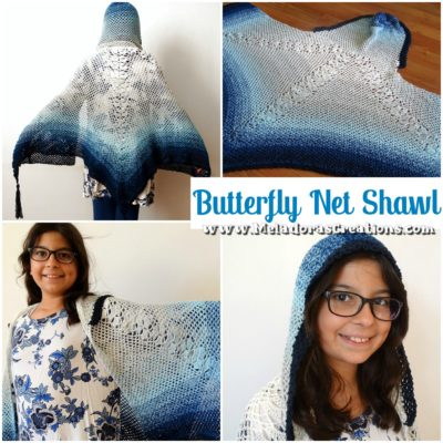 Butterfly Net Shawl by Candy Lifshes from Meladora's Creations