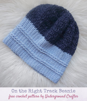 On the Right Track Beanie by Marie/Underground Crafter