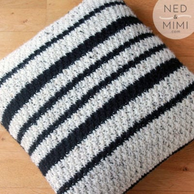 Black and White Throw Pillow by Sarah Ruane from Ned & Mimi