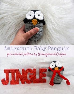Amigurumi Baby Penguin by Marie Segares/Underground Crafter