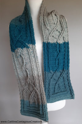 Knotted Cable Scarf by Caitlin's Contagious Creations