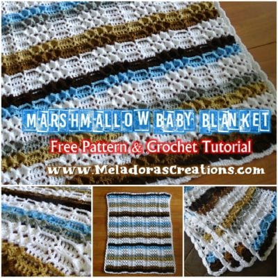 Marshmallow Baby Blanket by Candy Lifshes from Meladora's Creations