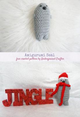 Amigurumi Seal by Marie Segares/Underground Crafter