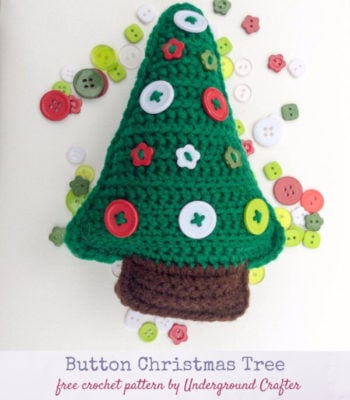 Button Christmas Tree by Marie Segares/Underground Crafter