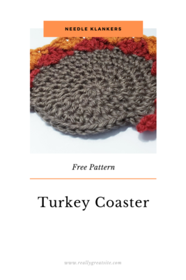 Crochet Turkey Coasters by NeedleKlankers
