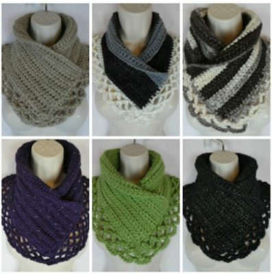 Lacey Charma Neck Warmer by Laura Wilson from Traverse Bay Crochet
