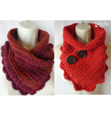 Simple Shell Neck Warmer by Laura Wilson from Traverse Bay Crochet