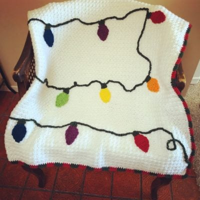 Christmas Lights Blanket by Crystal | ChristaCoDesign