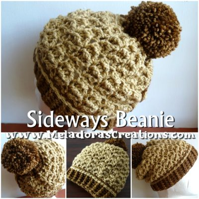 Sideways Beanie – Starfish Crochet Stitch by Candy Lifshes from Meladora's Creations