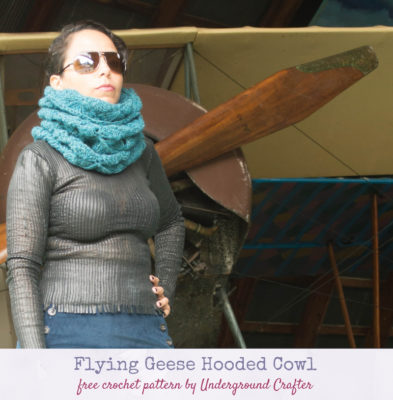 Flying Geese Hooded Cowl by Marie/Underground Crafter