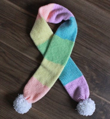 Rainbow Scarf by Sarah Ruane from Ned & Mimi