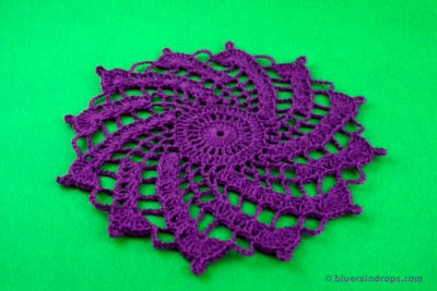 Easy Crochet Spiral Doily by blueraindrops