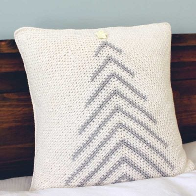 Modern Christmas Tree Pillow by Sarah Ruane from Ned & Mimi