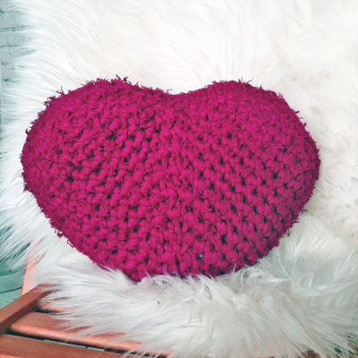 Chunky Heart Pillow by Sarah Ruane from Ned & Mimi