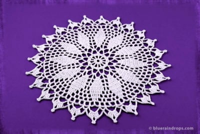 Crochet Spiked Doily by blueraindrops