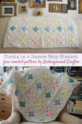 Circle in a Square Baby Blanket by Marie/Underground Crafter