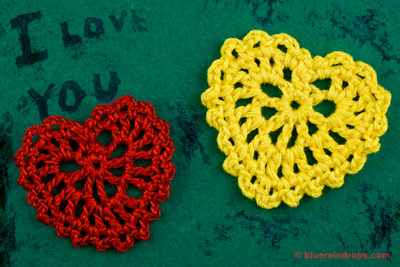 Small Crocheted Heart Pattern by blueraindrops