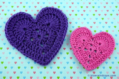 Lovely Crocheted Heart by blueraindrops