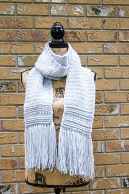 Silver Beach Scarf by Salty Pearl Crochet for Underground Crafter