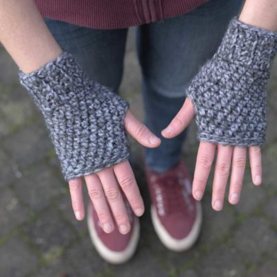 Basic Fingerless Gloves by RaffamusaDesigns