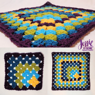 Off Set Granny Square with Thin or Thick Border by Jessie Rayot from Jessie At Home