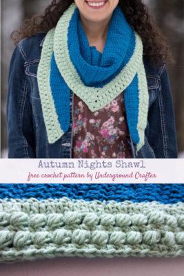 Autumn Nights Shawl by Marie/Underground Crafter